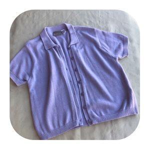 6/$15 Liz Claiborne short sleeve cardigan large